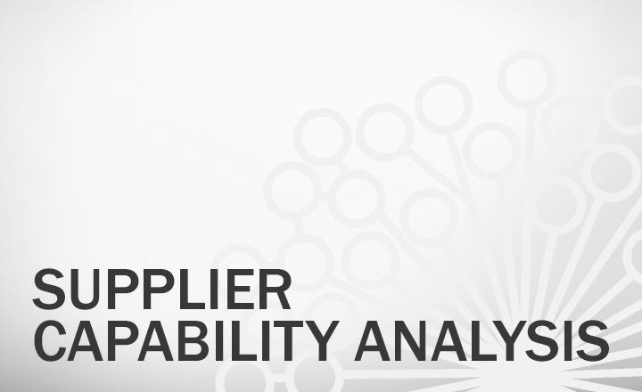 Supplier Capability Analysis